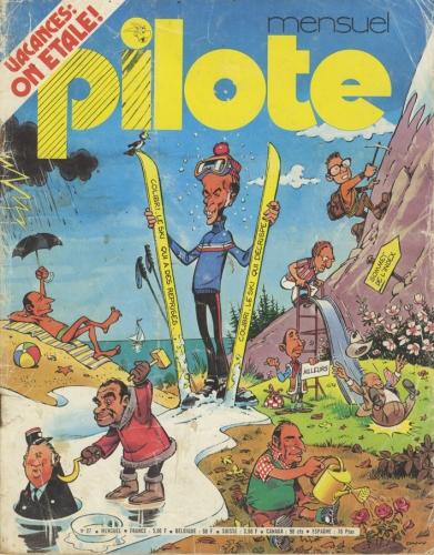 Revue Pilote,giscard d'estaing,caricatures, jean solé,jean-michel renault,mulatier,morcoisne,patrick ricard,dessin,BD