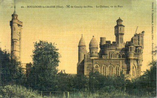 chateau de Boulogne la Grasse,architecture insolite, architecture singulière, anarchitecture, art brut, photos, cartes postales ancienns, laurent Jacquy