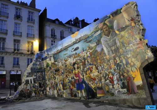 royal de Luxe, mur peint, El Xolo, Nantes