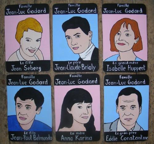Peinture sur bois,Laurent Jacquy,portraits,100 familles,illustration,jeu de 7 familles,portraits de célébrité,Acrylique sur bois,humour,art singulier,art insolite,art naÏf,french outsider