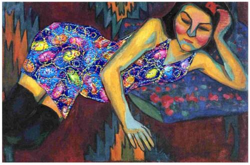 fanny Viollet, Travaux d'aiguille, Piqueture, art singulier, carte postale