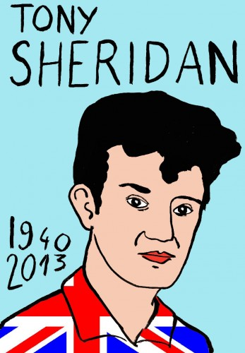Tony Sheridan,Beatles,dessin,mort d'homme,laurent jacquy,art modeste,french outsider