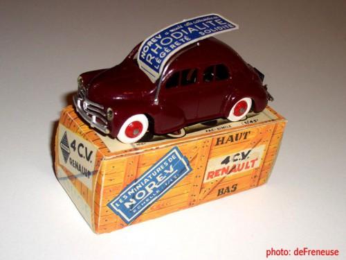 émile véron,jeu,jouet,4 CV,voitures miniature,Norev,majorette