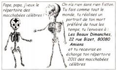 Répertoire des macchabées célèbres,dessins,Laurent Jacquy,Les Beaux Dimanches