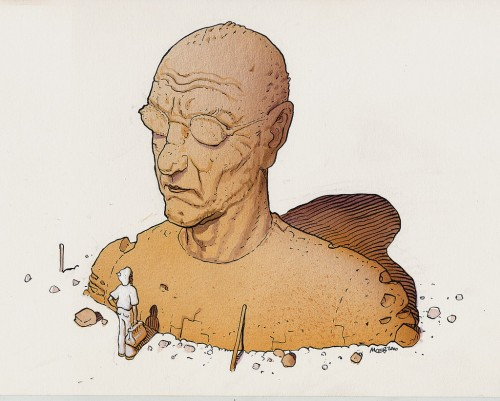 moebius, Gir, illustration, dessin, BD