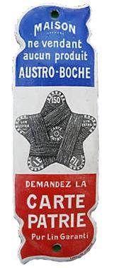 plaque émaillée,grande guerre,1914-1918,collection,brocante