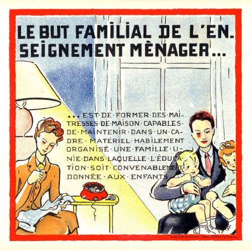 Liliane de Christen, l'enseignement ménager familial,illustrateur,illustration,édition