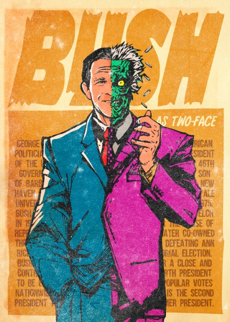 Supervillains,Butcher Billy,graphisme,illustration,méchants,comics,détournement,gifs animés