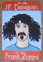 Frank zappa,Peinture sur bois,laurent jacquy,série 100 familles,jeu de 7 familles,art singulier,art modeste,french outsider