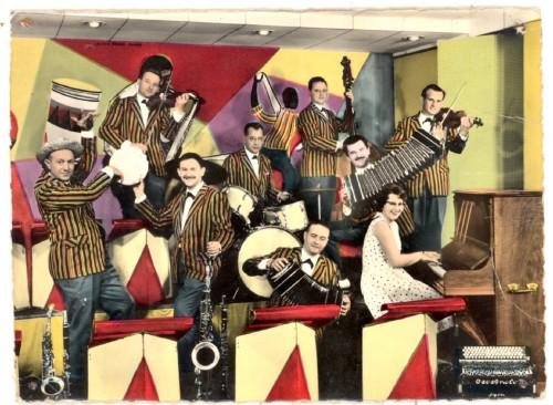 carte postale ancienne, orchestre Kubiak, Les beaux dimanches, collection L.jacquymusique