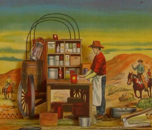 cowboy,livre,illustration pop-up,e. joseph dreany,édition