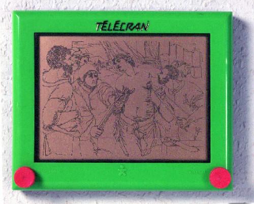 André Cassagnes,Stephane Lallemand,Télécran,écran magique,Etch A Sketch,jeu,jouet,collection,brocante