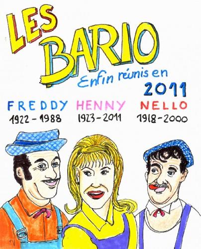 Répertoire des macchabées célèbres,Les Bario,dessin,portrait,Pascal Pinette