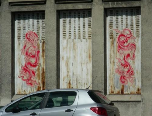 tag, affiches, dans la rue, pochoir, collages