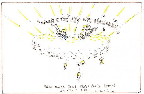 Répertoire des macchabées célèbres,Gary Moore,dessin,portrait