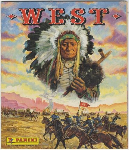 Album Paninini,images, farwest, cowboys,indiens,, rouge et or