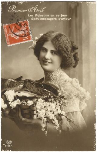 cartes postales anciennes,collection, 1er avril,art populaire