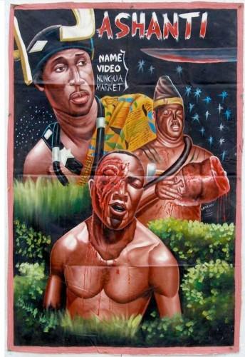 Art naif, art populaire, affiches de cinéma Ghana, livre, édition, Putters, peinture, peintre, graphisme, afrique, peintre africain, extreme canvas, ghanavision
