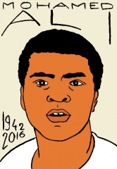Mohamed Ali,dessin, portrait, laurent Jacquy