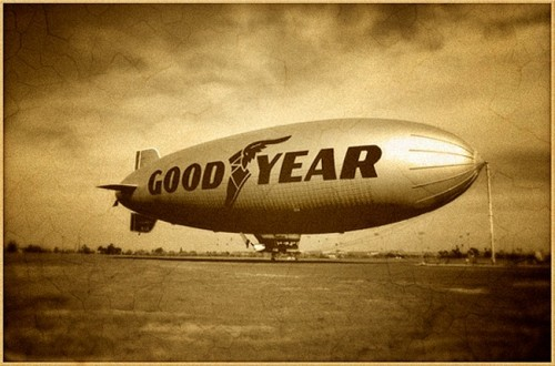 Dirigeable Goodyear, photo anciennes