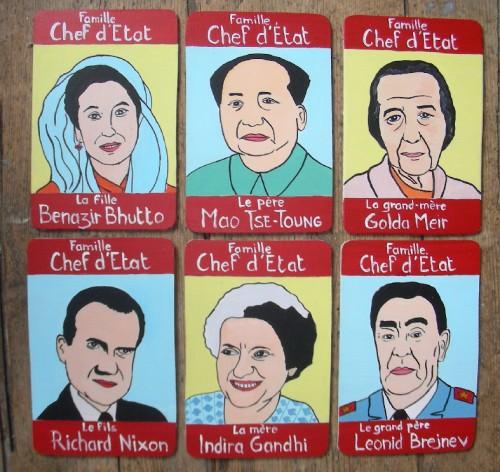 Peinture sur bois,Laurent Jacquy,portraits,100 familles,illustration,7 familles,portraits de célébrité,Acrylique sur bois,humour,art singulier,art insolite,art naÏf,french outsider