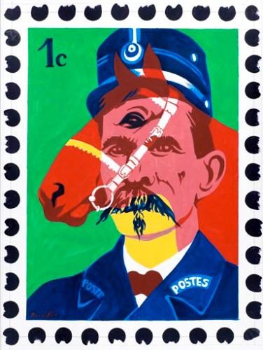 Rancillac,Cent regards pour le facteur Cheval, Palais idéal, Facteur Cheval, Art brut, art singulier, peinture, dessin, collage, livre, édition, cartes postales