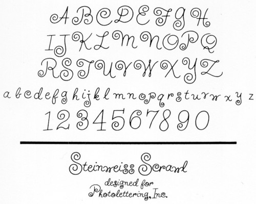 graphisme, typographie, ales Steinweiss