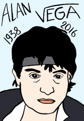 Alan vega, dessin, portrait, laurent Jacquy