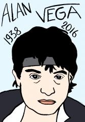 Alan vega, dessin, portrait, laurent Jacquy