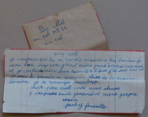 lettre au pere noel, brocante,document