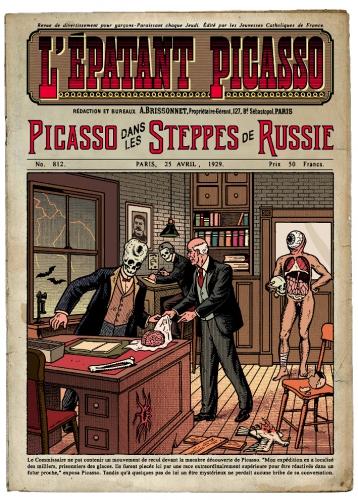 stéphane rosse,l'épatant picasso,bénito,aedana,illustration,graphisme,édition
