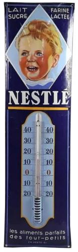 plaque émaillée,thermomètre émaillé,brocante,collection
