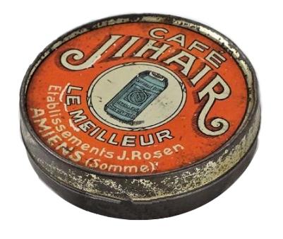 Café Jihair,Amiens,collection,boite métal lithographié,brocante,café