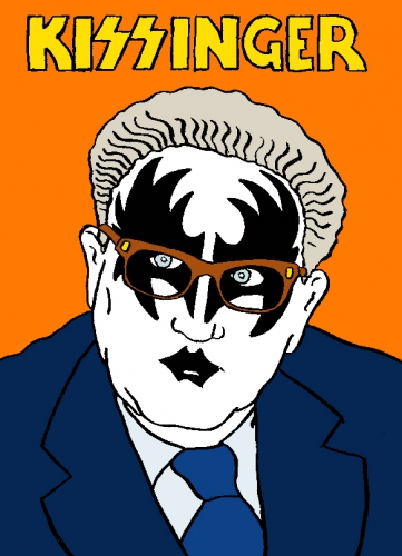 kissinger,kiss,dessin,laurent jacquy,humour