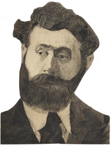 Augustin Lesage,art brut,art mediumnique,autoportrait,dessin,fusain