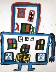 Dessins d'écrivains, ionesco, Crevel, louise michel, René Daumal, Henry Miller, André Breton, Raymond Queneau, Apollinaire, Maupassant, André Breton, dessin, peinture, collage