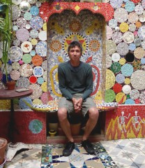 Yann Paris,portrait, Mosaique, photo Laurent Jacquy,mosaic,Jacquy's house Amiens,,art singulier,art populaire,tour de france,