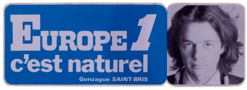 gonzague saint bris, europpe1,radio,autocollant,collection,brocante