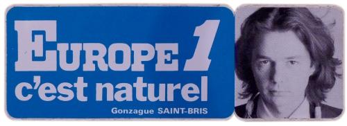 gonzague saint bris, europpe1,radio,autocollant,collection,brocante