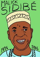 Malick Sidibé, dessin, portrait, laurent Jacquy
