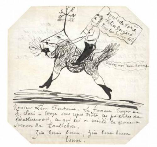 Dessins d'écrivains, ionesco,Raymond Queneau,André Breton, Guillaume Apollinaire,Henry Miller,Guy de Maupassant,René Crevel,Louise Michel,dessin,peinture,autographe