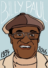 Billy Paul, dessin, portrait, laurent Jacquy