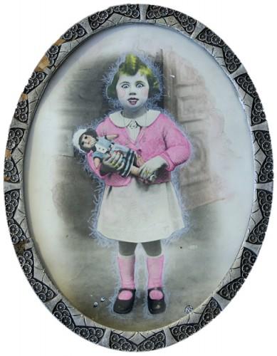 Mathilde Lemonnier,photo,détournement,peinture,dessin,humour,photo retouchée,photographies anciennes