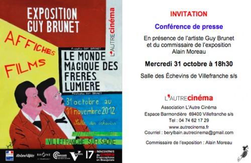 art brut,Guy Brunet,Villefranche sur Sommme,cinéma,peinture,affiche
