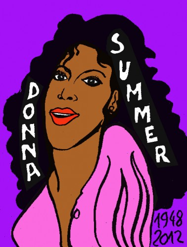 Donna Summer, Donna se meurt,french outsider,dessin Laurent Jacquy
