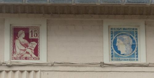 céramique, faïence,greber,ault,Somme,Picardie,plaque de villa,