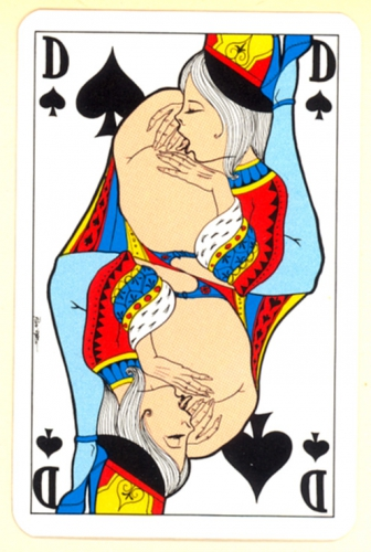 jeu,jouet,cartes à jouer érotiques,érotisme,collection,art modeste