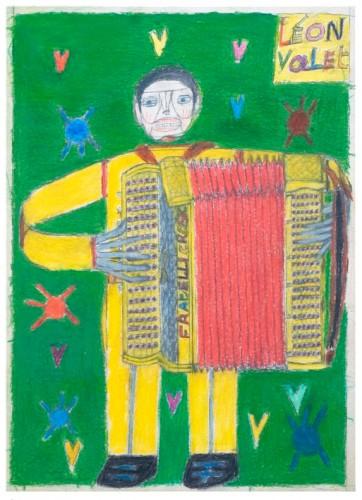 André Verchuren,accordéon,dessin,Oscar Haus,Laurent Jacquy,art singulier,french Outsider,peinture