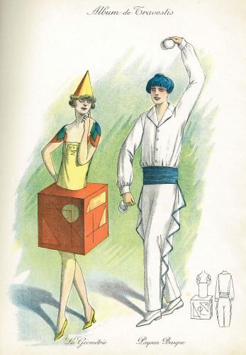 travestis, Costume, déguisement, graphisme, illustration, brocante, revue
