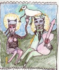 Duo des Falaises,Laurent Briet,Caroline Dayhot,dessin,art singulier,outsider,musique